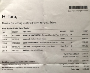 stitch fix invoice