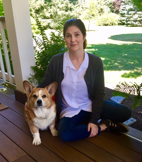 Stitch Fix Cardigan and Corgi