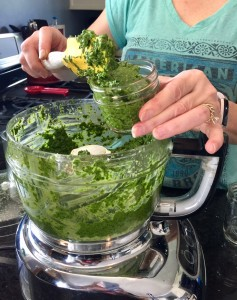 basil pesto jar