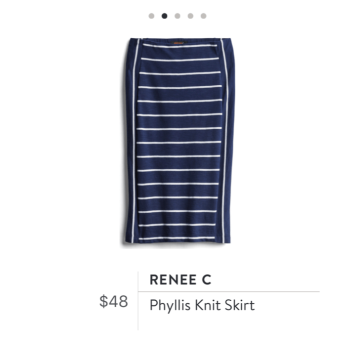 Stitch Fix blue white stripe skirt