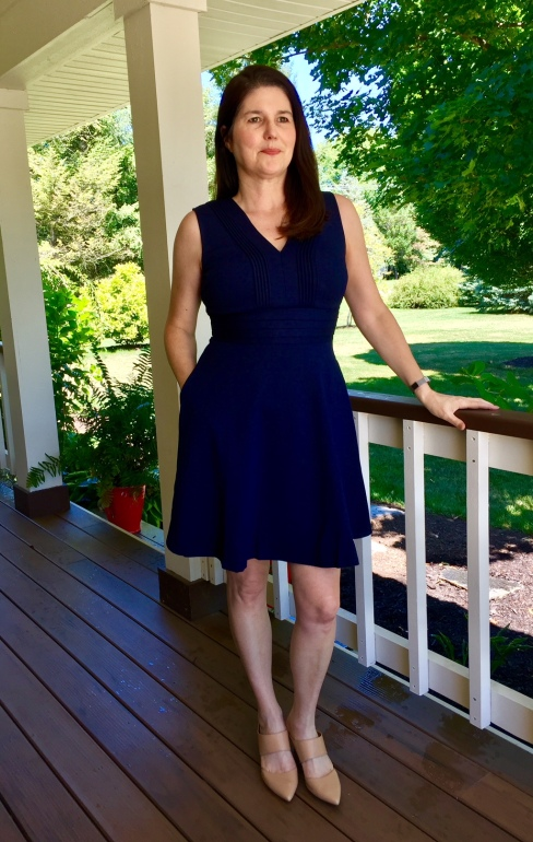 Stitch Fix Review Navy Blue Dress