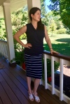 Stitch Fix navy blue white skirt