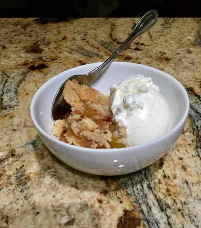 zucchini cobbler ice cream