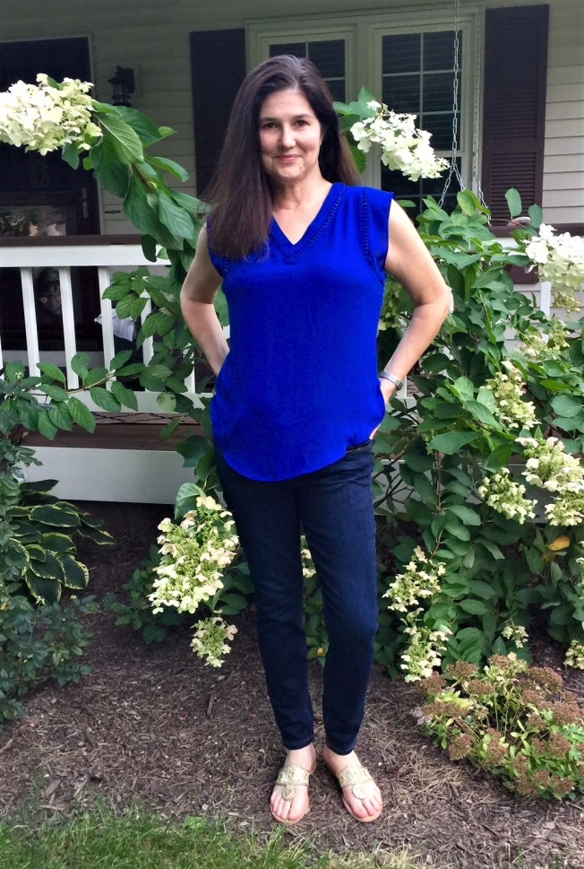 Stitch Fix Cobalt Blue Blouse